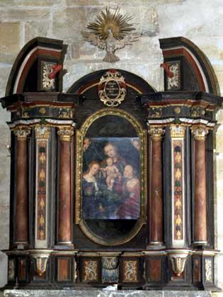Autel baroque d'Erfurt avec tableau de Lucas Cranach l'Ancien